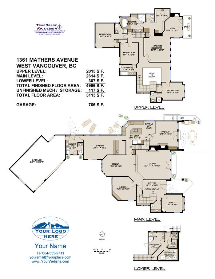 Truespace Design Real Estate Floor Plans North Vancouver Bc Home